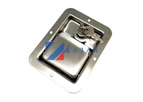 Trailer toolbox latch paddle lock